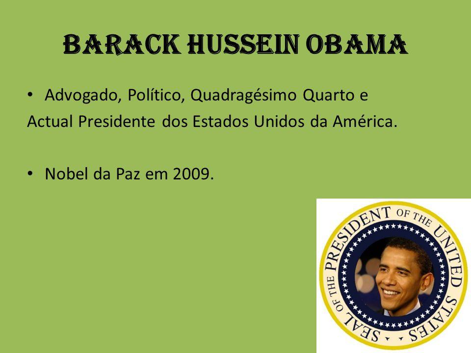 Barack Hussein Obama Advogado, Político, Quadragésimo Quarto e