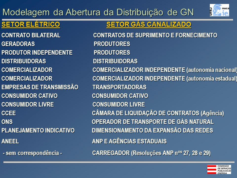 Modelagem da Abertura da Distribuição de GN