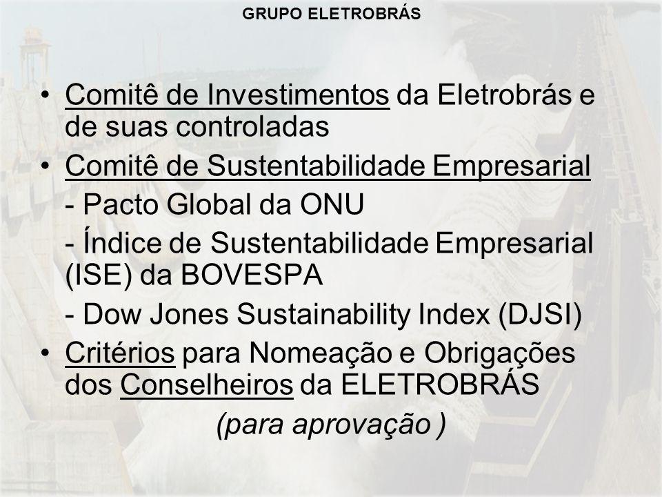 Comitê de Investimentos da Eletrobrás e de suas controladas