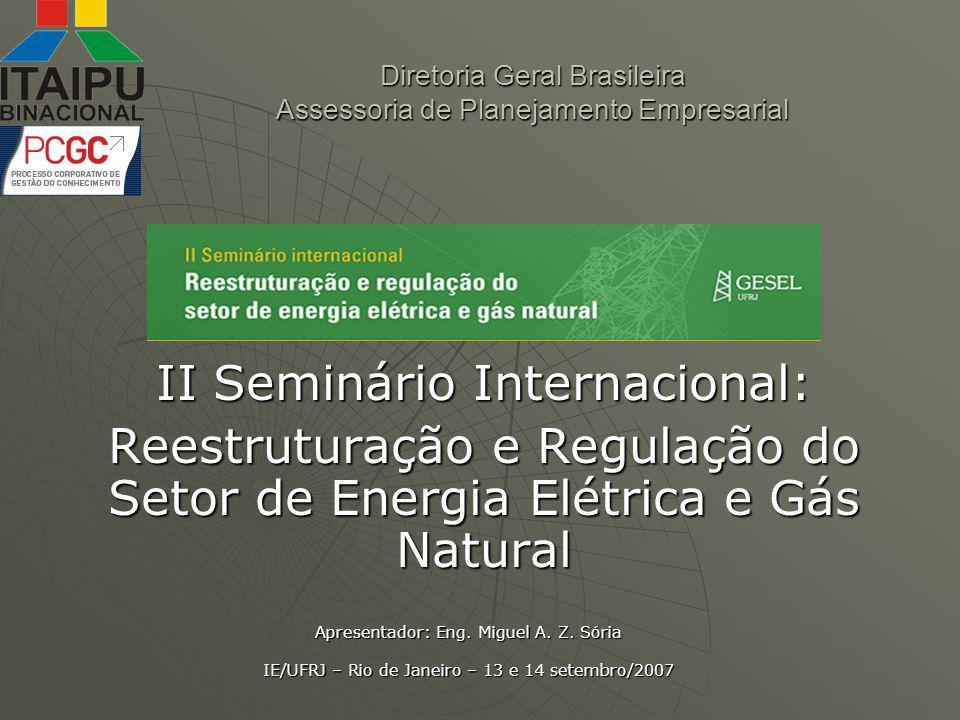 Diretoria Geral Brasileira Assessoria de Planejamento Empresarial
