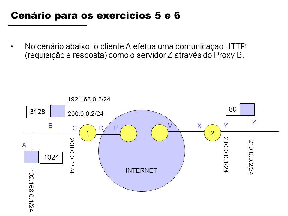 Cenário para os exercícios 5 e 6