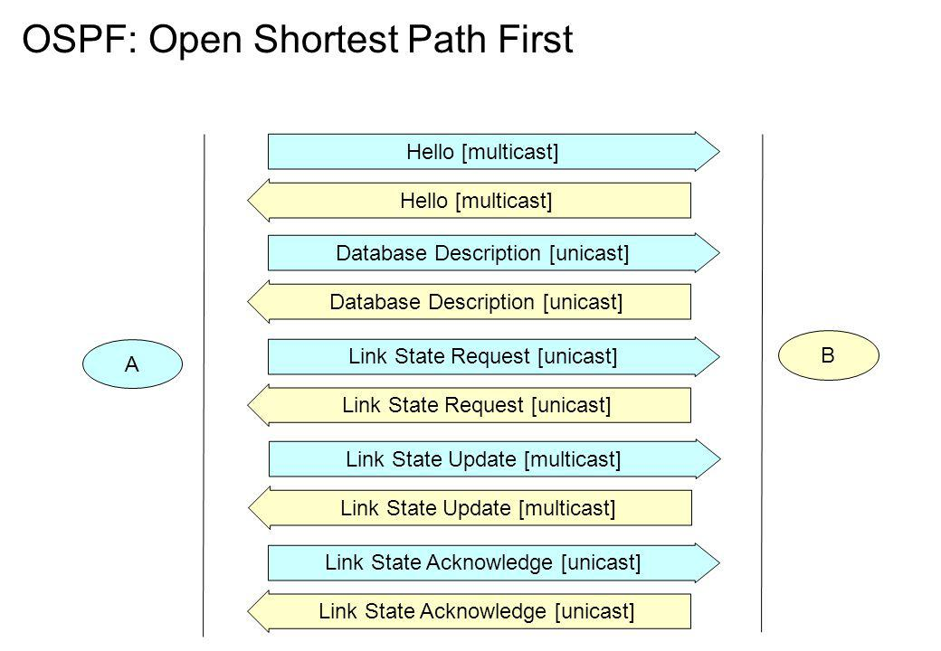 OSPF: Open Shortest Path First