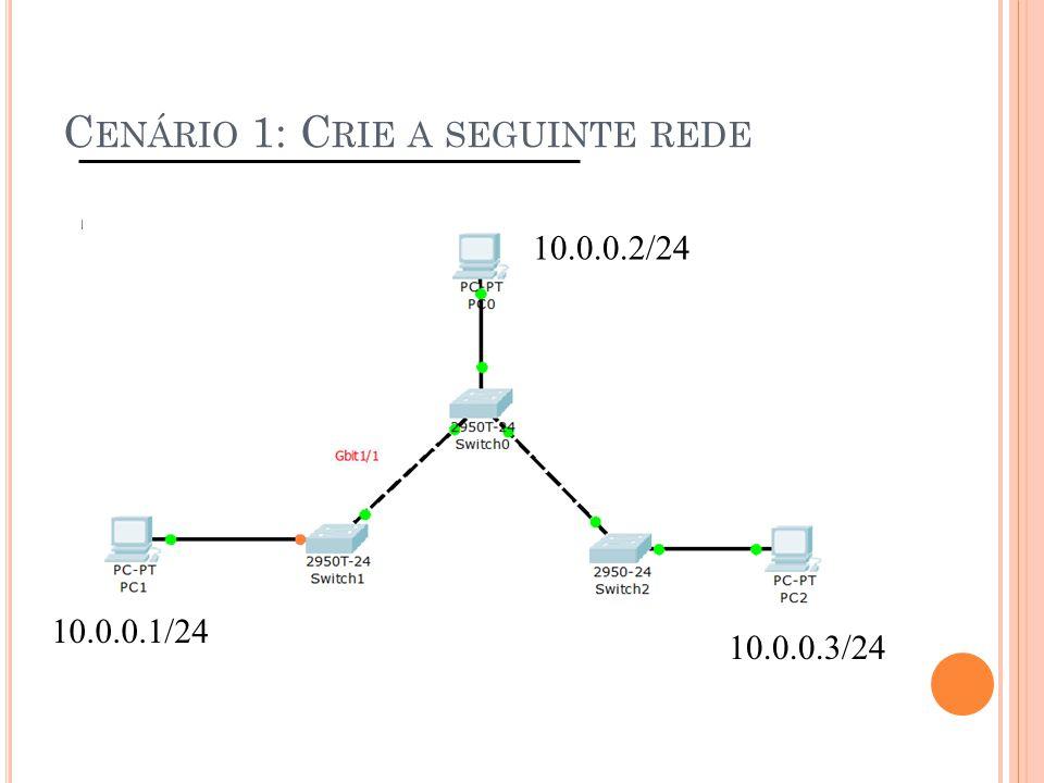Cenário 1: Crie a seguinte rede