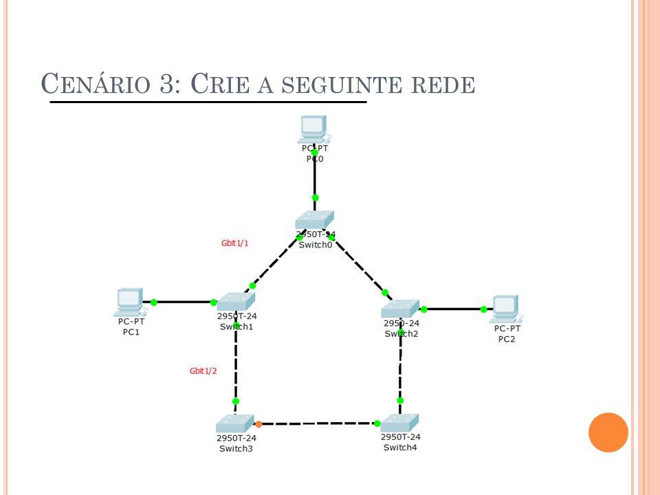 Cenário 3: Crie a seguinte rede