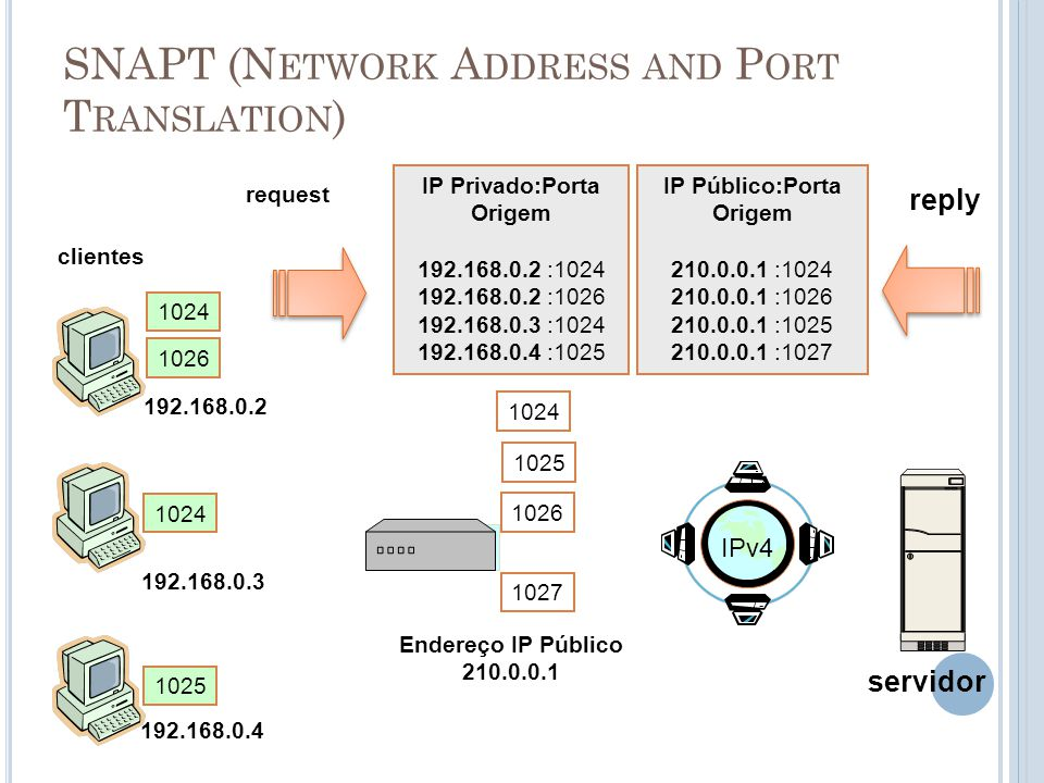 SNAPT (Network Address and Port Translation)