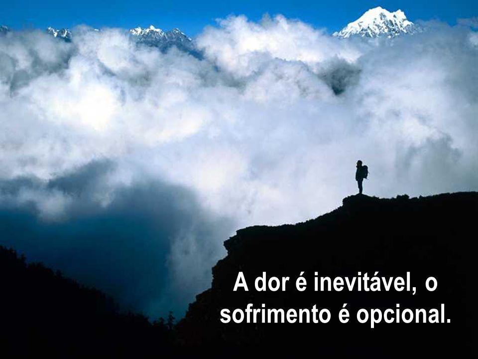 A dor é inevitável, o sofrimento é opcional.
