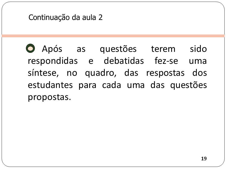 Continuação da aula 2