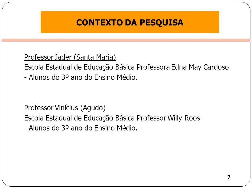 CONTEXTO DA PESQUISA Professor Jader (Santa Maria)