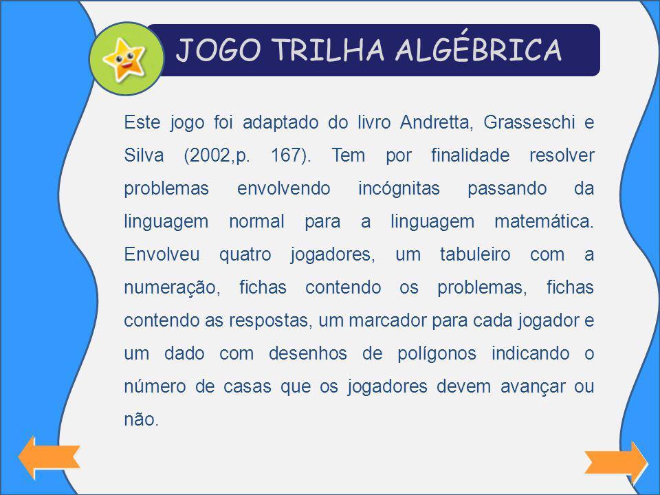 JOGO TRILHA ALGÉBRICA