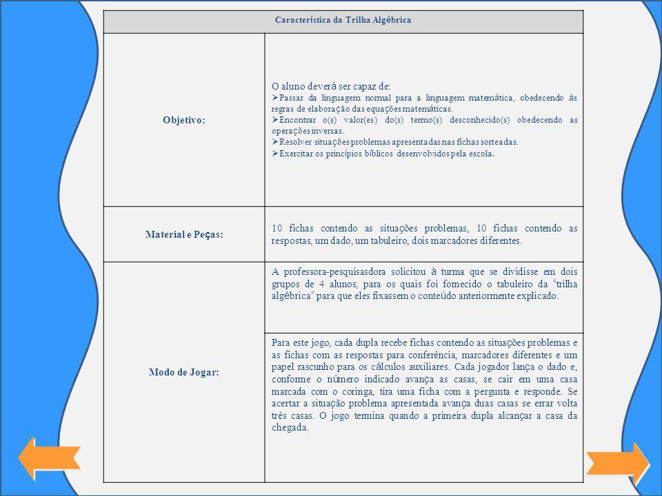 Característica da Trilha Algébrica