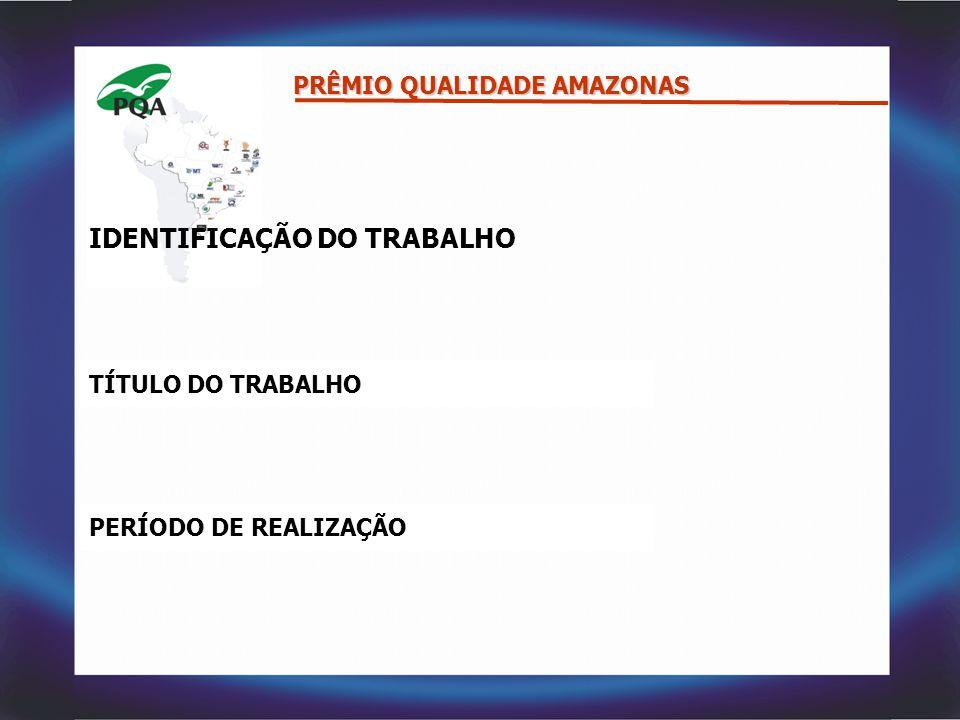 IDENTIFICAÇÃO DO TRABALHO