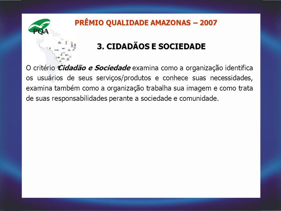 3. CIDADÃOS E SOCIEDADE PRÊMIO QUALIDADE AMAZONAS – 2007