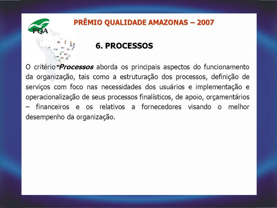 6. PROCESSOS PRÊMIO QUALIDADE AMAZONAS – 2007