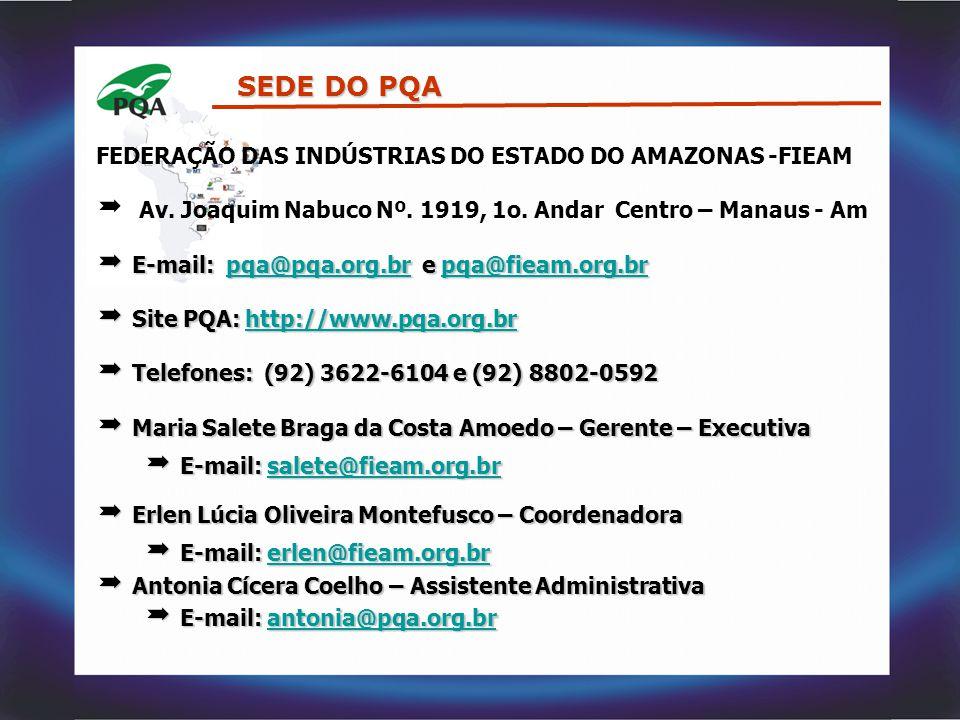 SEDE DO PQA FEDERAÇÃO DAS INDÚSTRIAS DO ESTADO DO AMAZONAS -FIEAM
