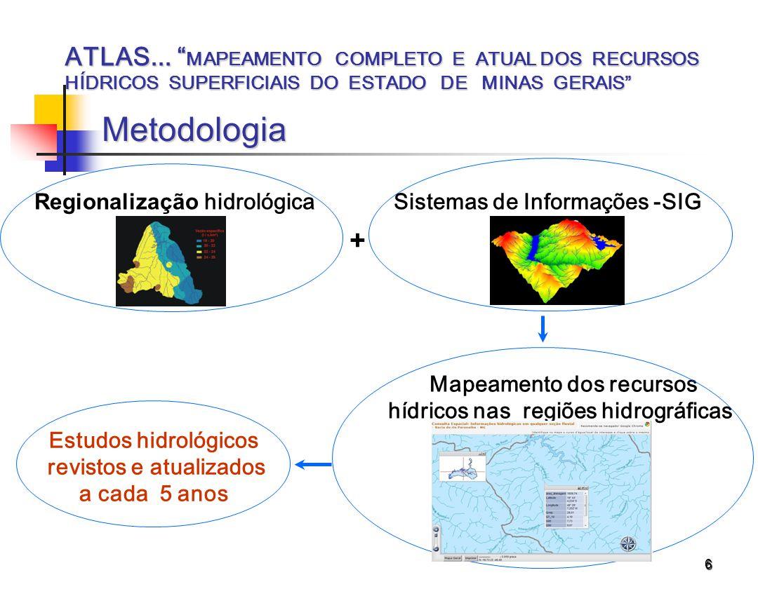 ATLAS... MAPEAMENTO COMPLETO E ATUAL DOS RECURSOS HÍDRICOS SUPERFICIAIS DO ESTADO DE MINAS GERAIS