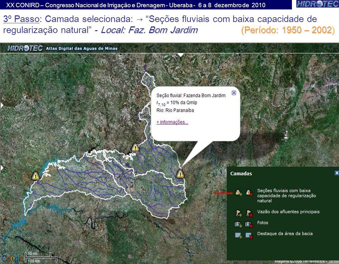 XX CONIRD – Congresso Nacional de Irrigação e Drenagem - Uberaba - 6 a 8 dezembro de 2010