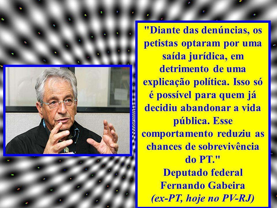 Deputado federal Fernando Gabeira
