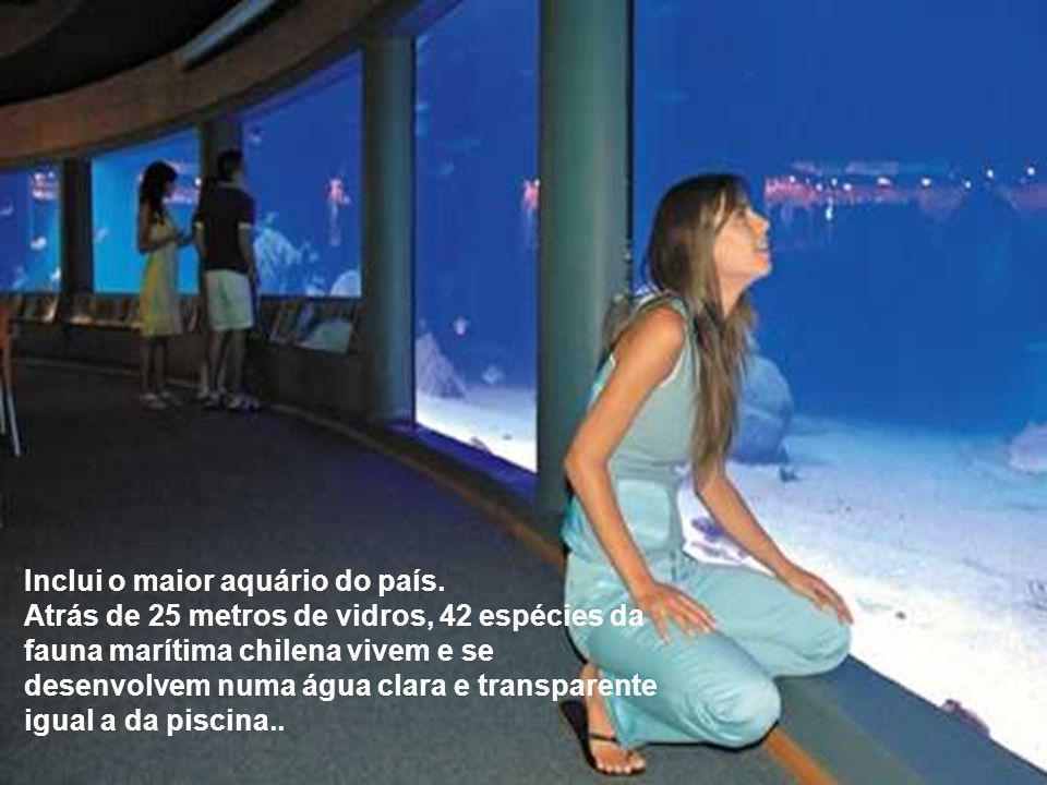 Inclui o maior aquário do país.