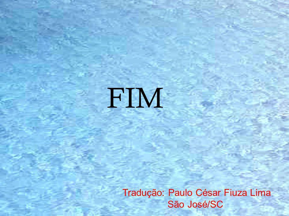 FIM Tradução: Paulo César Fiuza Lima São José/SC