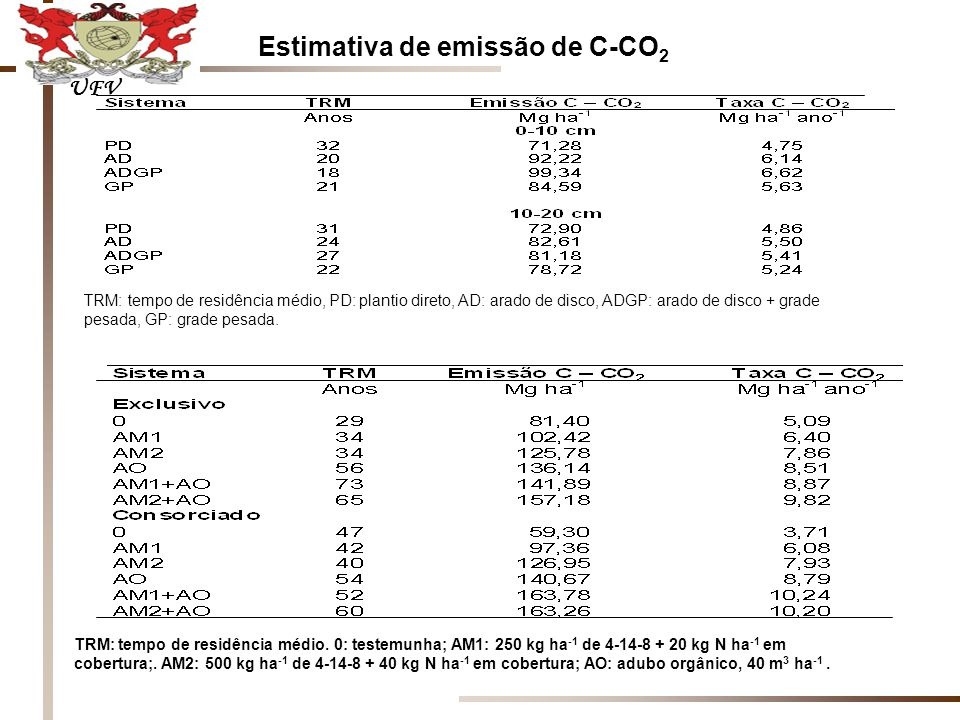 Estimativa de emissão de C-CO2