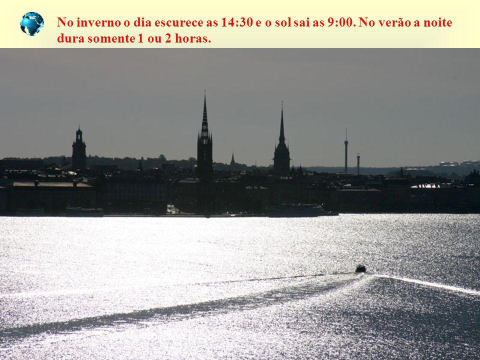 No inverno o dia escurece as 14:30 e o sol sai as 9:00