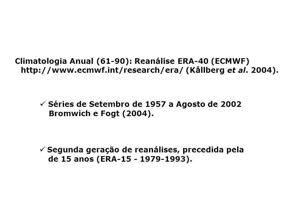 Climatologia Anual (61-90): Reanálise ERA-40 (ECMWF) http://www. ecmwf