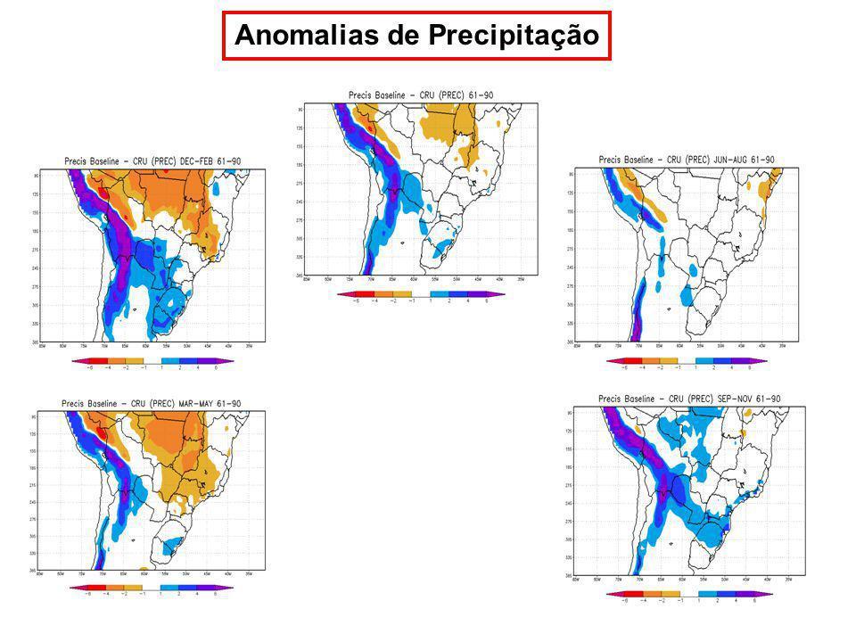Anomalias de Precipitação