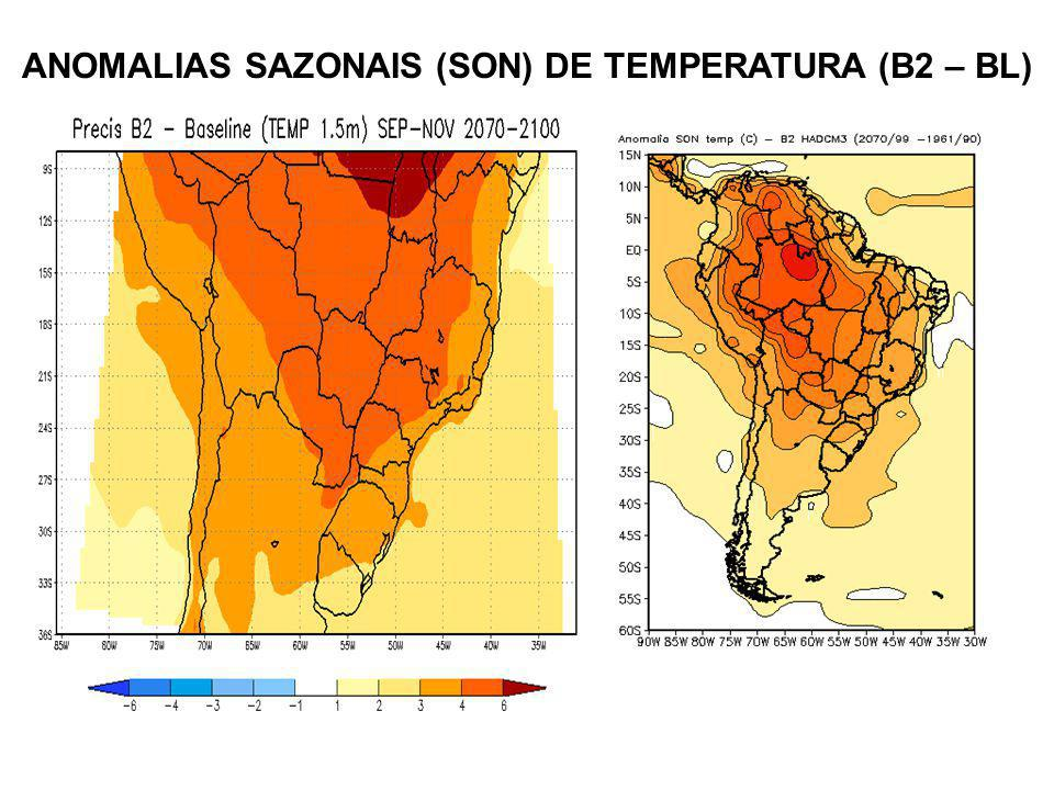 ANOMALIAS SAZONAIS (SON) DE TEMPERATURA (B2 – BL)