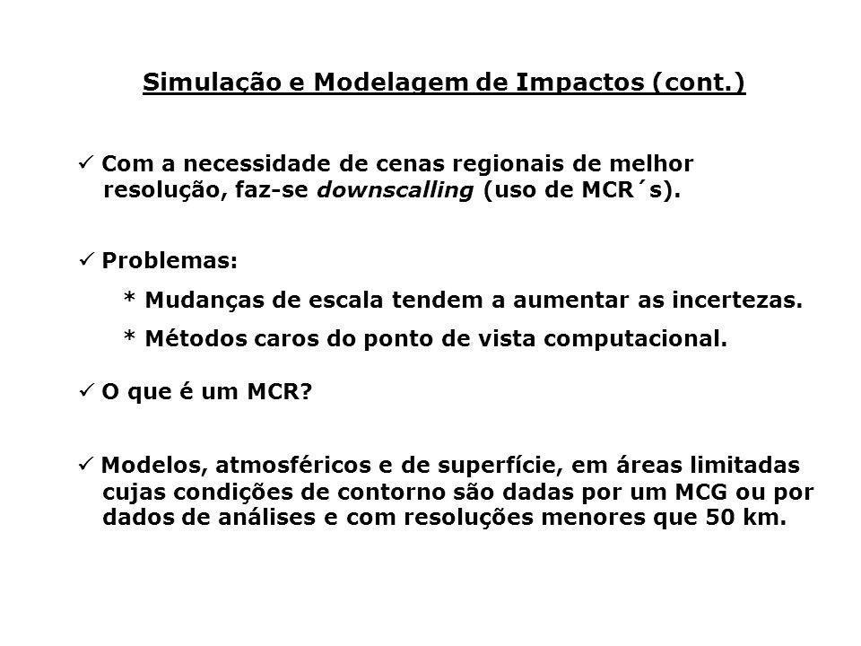 Simulação e Modelagem de Impactos (cont.)