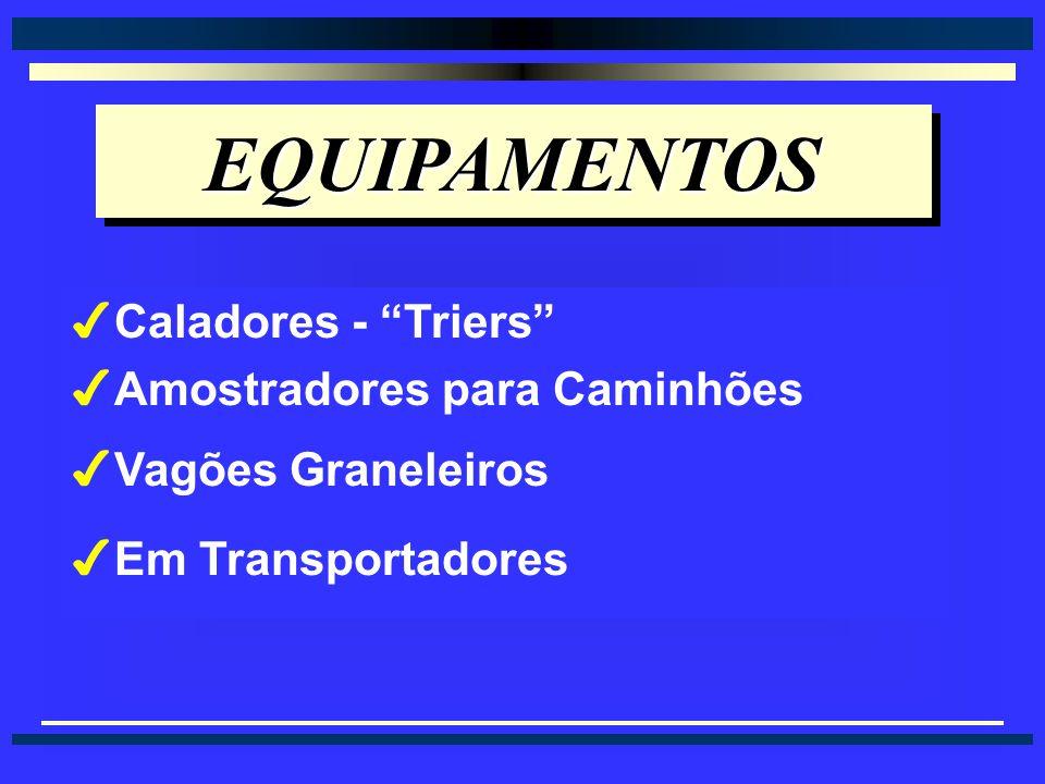 EQUIPAMENTOS Caladores - Triers Amostradores para Caminhões