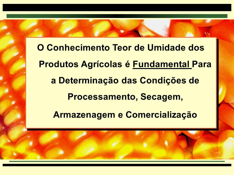 O Conhecimento Teor de Umidade dos Produtos Agrícolas é Fundamental Para a Determinação das Condições de Processamento, Secagem, Armazenagem e Comercialização