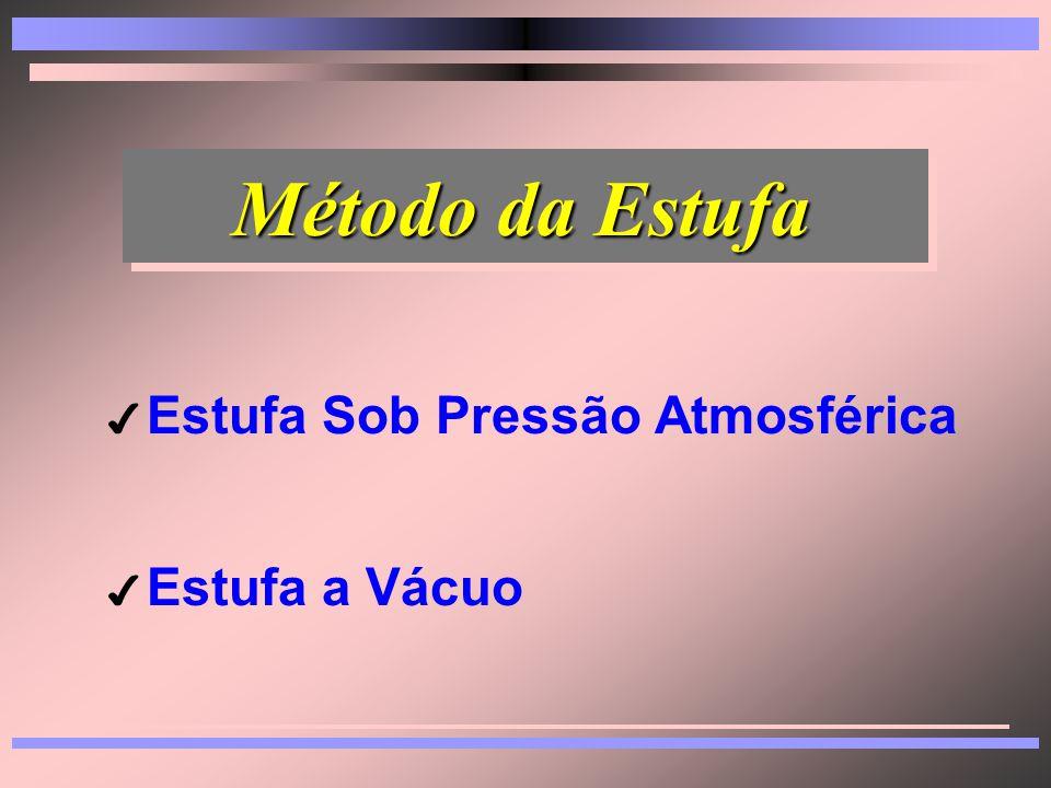 Método da Estufa Estufa Sob Pressão Atmosférica Estufa a Vácuo