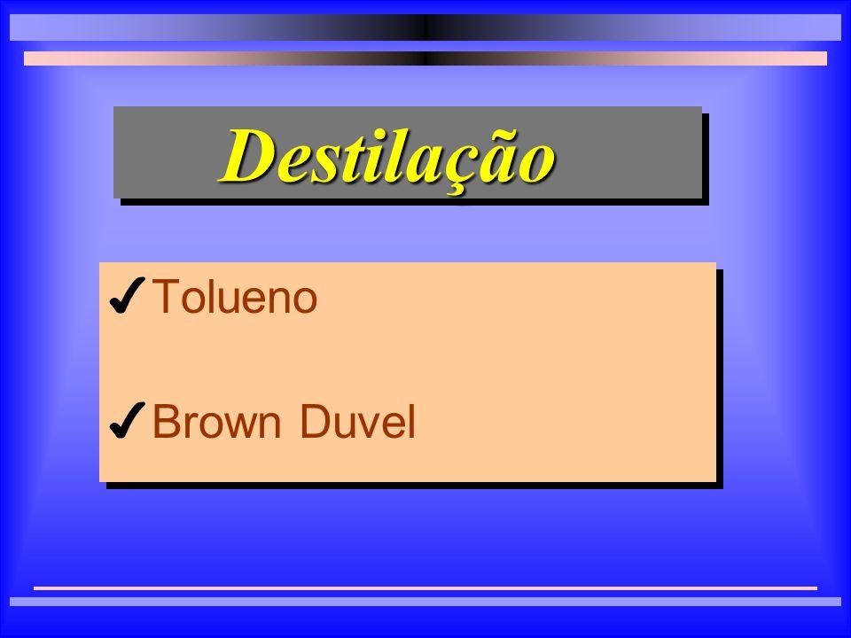 Destilação Tolueno Brown Duvel