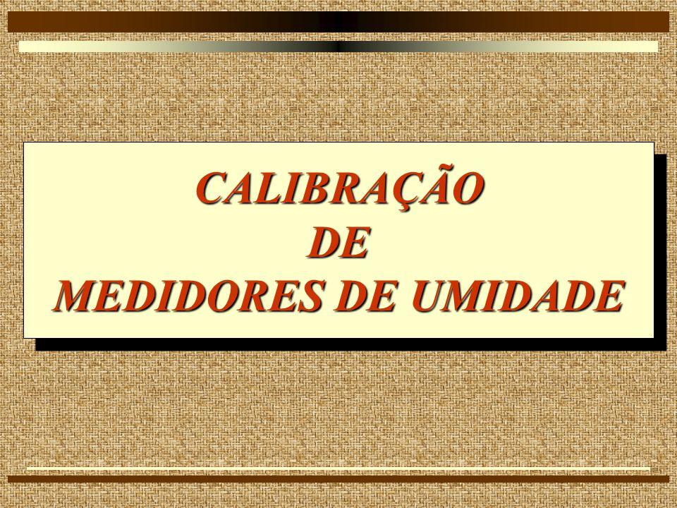 CALIBRAÇÃO DE MEDIDORES DE UMIDADE