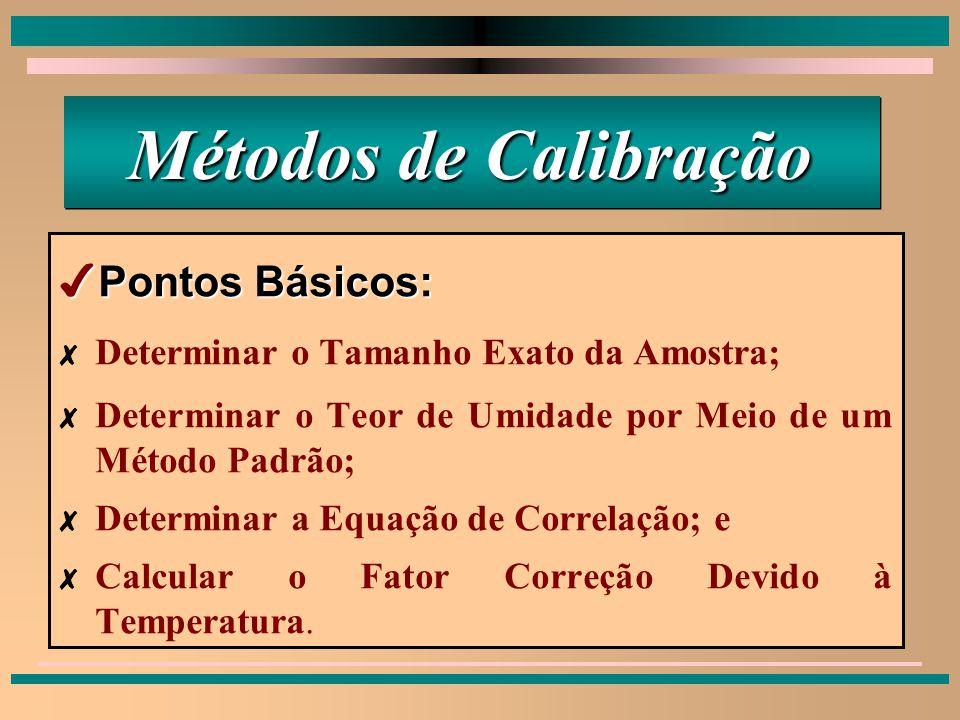 Métodos de Calibração Pontos Básicos:
