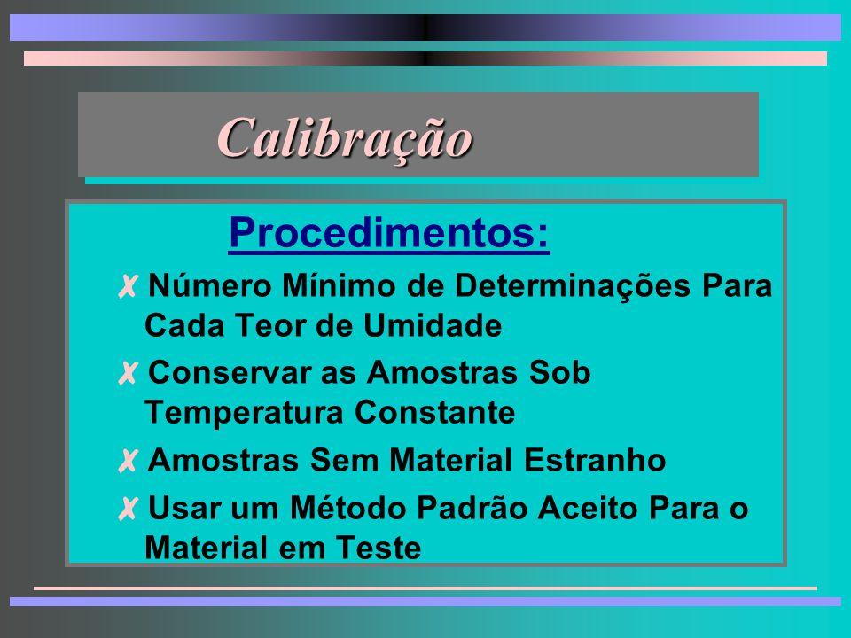 Calibração Procedimentos: