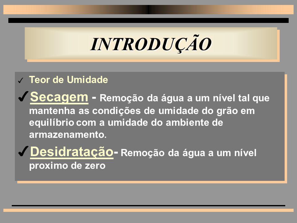 INTRODUÇÃO Teor de Umidade.