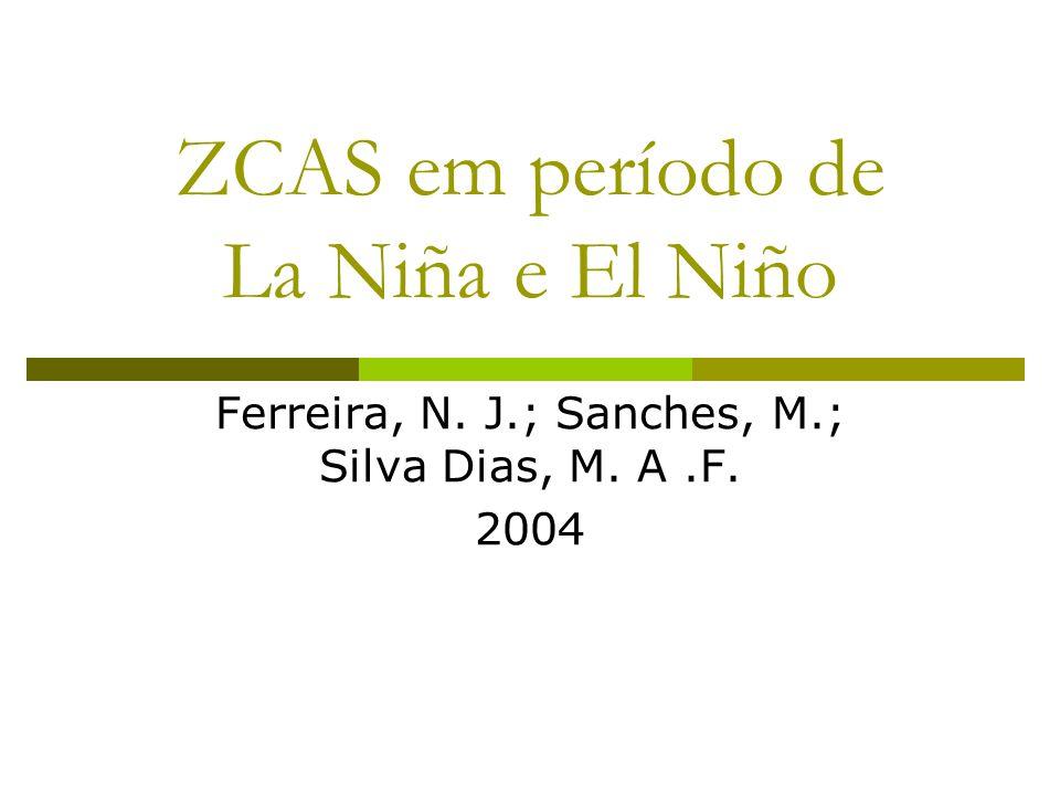 ZCAS em período de La Niña e El Niño