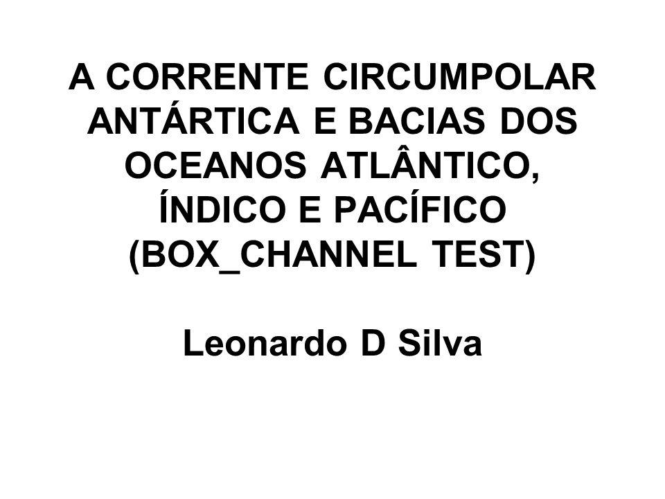 A CORRENTE CIRCUMPOLAR ANTÁRTICA E BACIAS DOS OCEANOS ATLÂNTICO, ÍNDICO E PACÍFICO (BOX_CHANNEL TEST) Leonardo D Silva