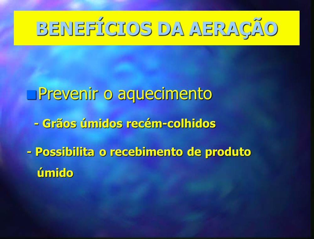 BENEFÍCIOS DA AERAÇÃO Prevenir o aquecimento