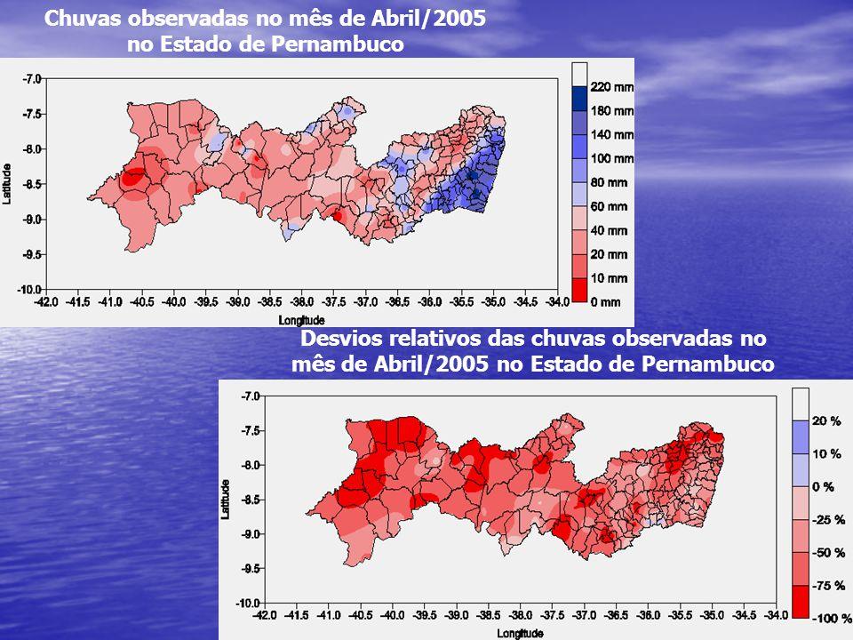 Chuvas observadas no mês de Abril/2005 no Estado de Pernambuco