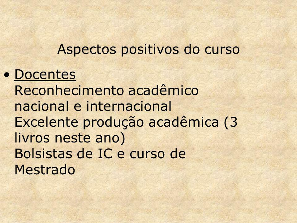 Aspectos positivos do curso