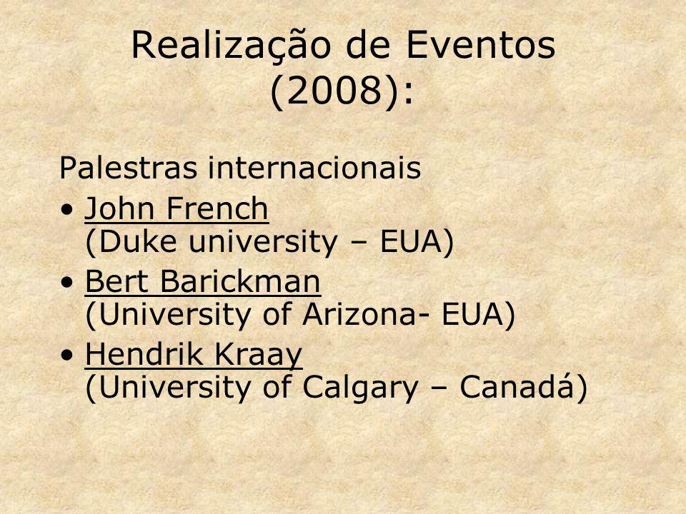 Realização de Eventos (2008):