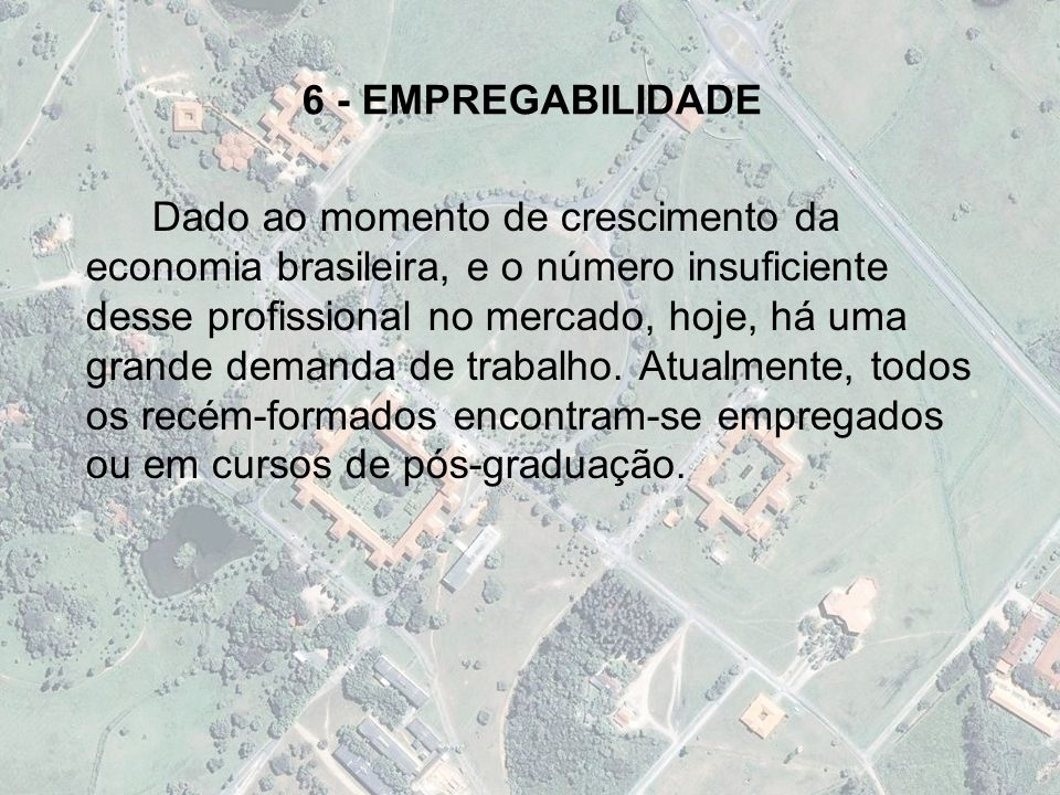 6 - EMPREGABILIDADE