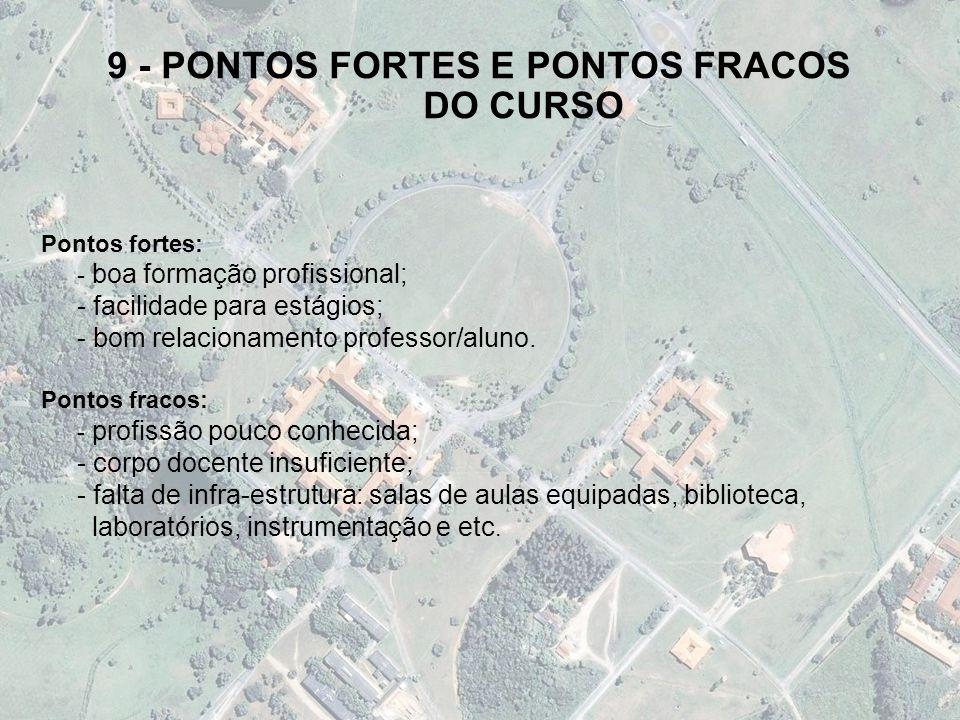 9 - PONTOS FORTES E PONTOS FRACOS DO CURSO