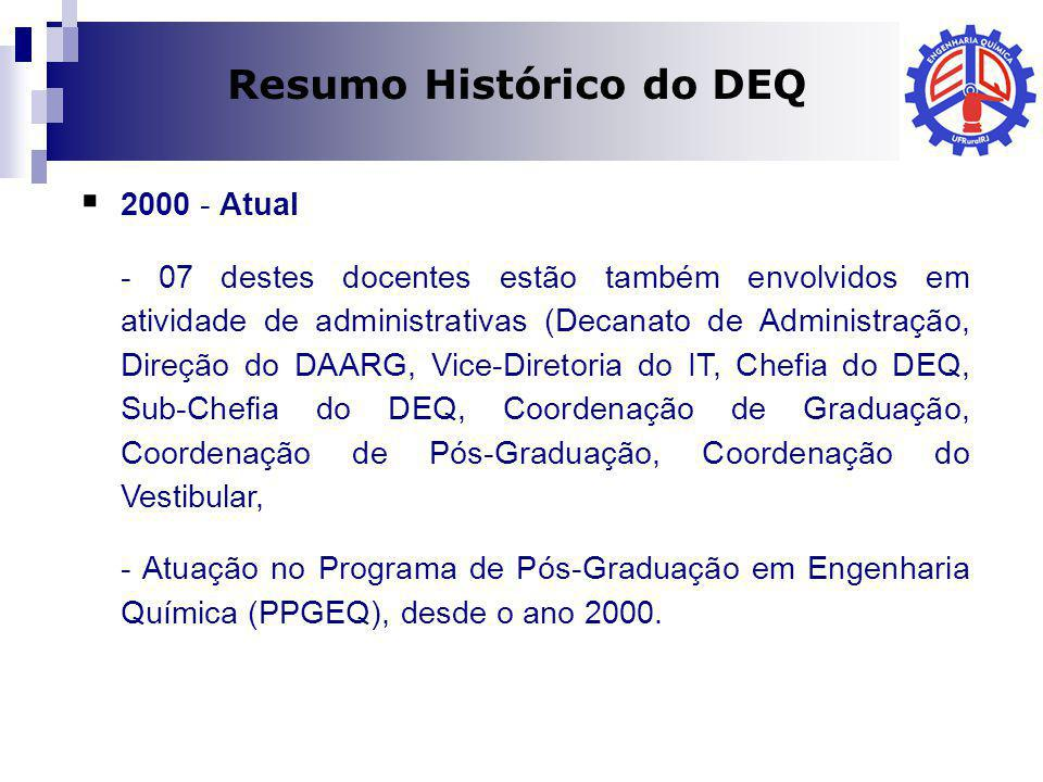 Resumo Histórico do DEQ