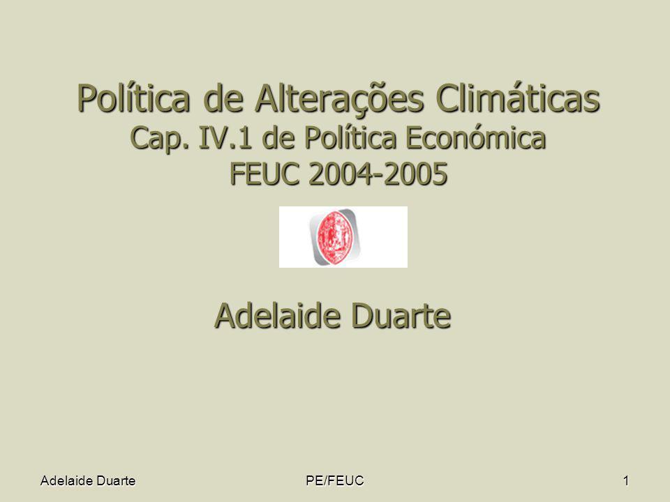 Política de Alterações Climáticas Cap. IV