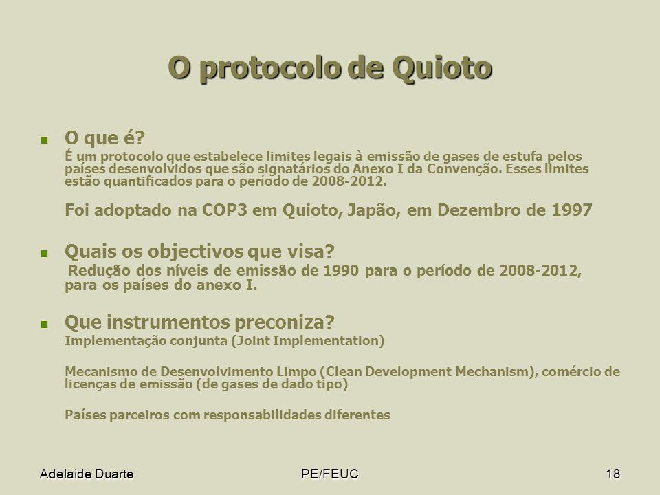 O protocolo de Quioto O que é Quais os objectivos que visa
