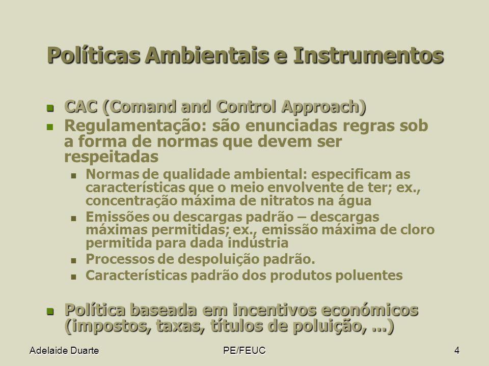 Políticas Ambientais e Instrumentos