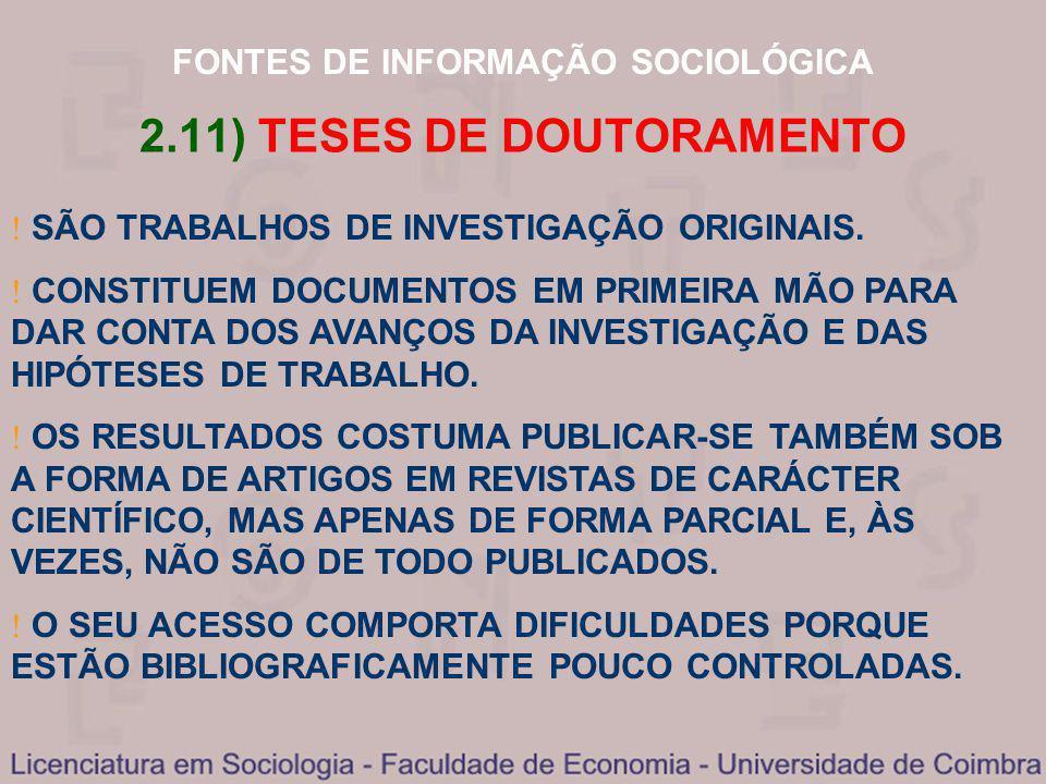 2.11) TESES DE DOUTORAMENTO